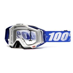 100% Racecraft Goggle cobalt blue / clear